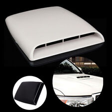 White Universal Car Bonnet Hood Air Flow Intake Vent Scoop Cover Decorative HOT