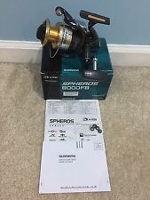 Shimano SPHEROS 8000FB Spinning Reel. Very good condition and smooth...!!!