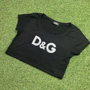 FREE SHIPPING Dolce & Gabbana Black T-Shirt, Size: Large, Womens Italy Vintage