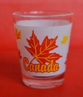 Canada Maple Leaf Shot Glass White Yellow Red