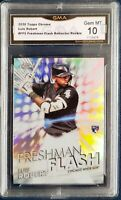 LUIS ROBERT 2020 TOPPS CHROME FRESHMAN FLASH Refractor GMA 10 Gem Mint Rookie