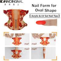 100/300pcs Pro Cartine Nail Art Ricostruzione Unghie Allungamento UV Gel