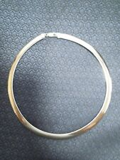 """Large 11MM Sterling Silver Omega Necklace Italy 18"""", 26.7g"""