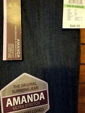 NWT Gloria Vanderbilt Amanda Ultra Stretch Slimming Jean Embellished Pockets 8P