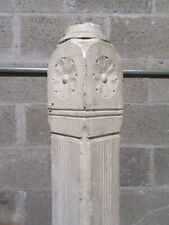~ ANTIQUE CARVED WALNUT NEWEL POST 46 TALL ~  ARCHITECTURAL SALVAGE ~