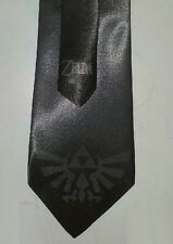 L@@K! Legend of Zelda - Triforce Steel Grey Satin  Neck Tie