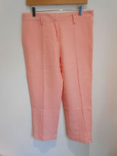 BNWT Just In Case smart casual tapered woven 'Grease Pink' trousers 40 UK 12 NEW
