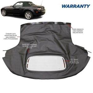 Mazda Miata 2006-2015 Convertible Top & Heated Glass Window Black Cabrio