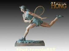 108 cm Western art deco bronze Women girl Motion Tennis Tennisspiel sculpture