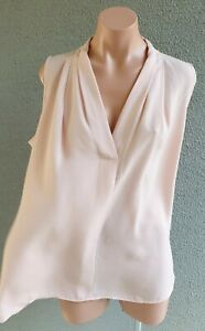 💜 VINCE CAMUTO Sleeveless Blouse Top Light Rose Size XL Buy7=FreePost L835