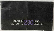 Polaroid Automatic Land Camera 230 Instruction Manual,