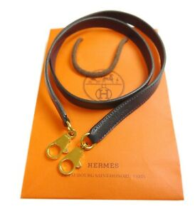 Authentic HERMES Kelly shoulder strap Leather #10579