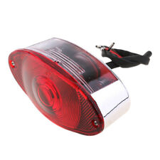 12V Bulb Motorcycle Quad ATV Running Brake License Plate Tail Light Chrome
