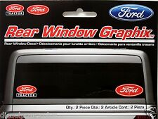 Ford tractor rear window graphics sticker red logo decal set of 2 farm script