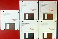 Apple Color StyleWriter Pro Installation Disks (Lot of 5) Vintage 1994 3.5 Inch