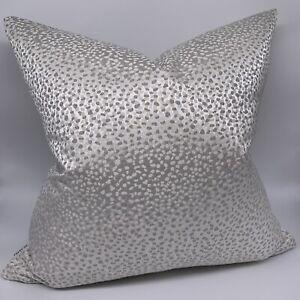 "Luxury Cushion Cover 18"" Designer Studio G ""ARIA""  Fabric Natural Grey Decor"