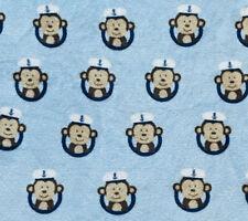 Garanimals 30 x 34 Sailor Captain Hat Monkey Nautical Blue Baby Blanket Nautical