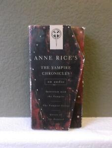 Ann Rice's The Vampire Chronicles (3 stories) On Audio, 6 Cassettes