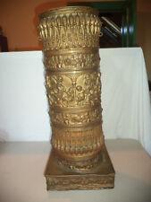 Ornate Antique Vintage Cherub Putti Repousse Brass Umbrella Cane Stand Holder!