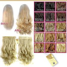 Wiwigs Curly Half Head 1 Piece Blonde Brown Auburn Black Clip In Hair Extensions