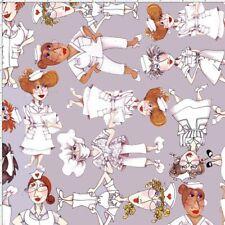 Loralie Designs: Nifty Nurses Tossed - 50 cms x 110 cms  - 100% Cotton