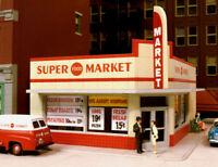 CITY CLASSICS 114 HO SUPER MARKET GROCERY STORE BUILDING Railroad Kit FREE SHIP