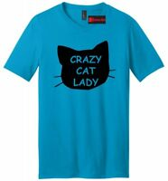Crazy Cat Lady Funny Mens V-Neck T Shirt Cat Lover Kitten Meow Holiday Gift Tee
