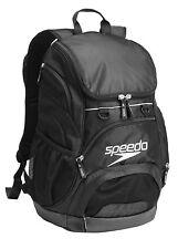 Speedo Teamster Backpack Swim Gear Back Pack Equipment Bag - 35L Liters - Black