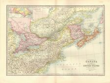 1890 ANTIQUE MAP - CANADA AND NORTHERN UNITED STATES
