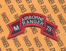 US Army M AIRBORNE RANGER 75 Vietnam LRRP LRP 199th Inf Bde scroll patch