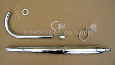 Auspuffanlage Simson SR2E KR50 Spatz Auspuff komplett Verchromt