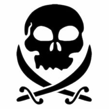 Auto Aufkleber Totenkopf Skull Pirat Styling Tuning Sticker in 20 Farben wählbar