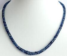 Cianita Collar de piedras preciosas tallado en Facetas Cyanit Noble NUEVO