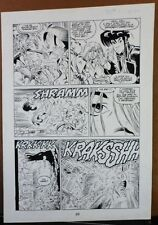 JONNY DEMON #2 PG 20 1994 ORIGINAL ART BY NEIL VOKES & BRUCE PATTERSON-DH COMICS Comic Art