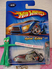 2005 Hot Wheels SCORCHIN SCOOTER cycle #078/78∞Black w/flames∞Rebel Rides 4/5