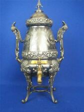 Rare Antique 19c. American Silverplate Large Hot Water Kettle Urn