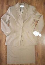 Rena Rowan Tan Ladies Skirt Suit Size 16 Jacket & Size 14 Skirt NWT Retail $200