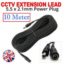 10M DC Power Extension Cable 5.5mm x 2.1mm Male Female LED Light/CCTV 5V 12V 24V