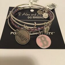 "ALEX AND ANI ""NEW ENGLAND PATRIOTS, PINK BOSTON RED SOX, ROCK CANDY AMETHYST"" RS"