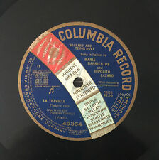 "RARE 78RPM 12"" ONE SIDED SOPRANO MARIA BARRIENTOS TENOR HIPOLITO LAZARO TRAVIATA"