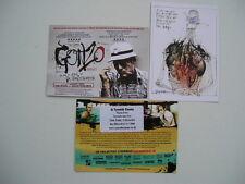 GONZO THE LIFE & WORKS OF HUNTER S THOMPSON JOHNNY DEPP UK CINEMA PROMO CARDS