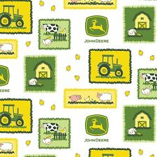 #1259 FAT QUARTER FABRIC JOHN DEERE NEW Tractor Animal Patches