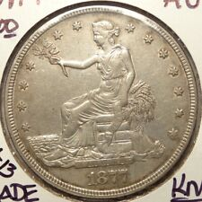 1877-P Trade Dollar,  Original Almost Uncirculated,  Nicely Struck.