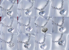 Personalised Wedding Special Occasion Silver Charm Bracelet,Bridemaid,Mother etc