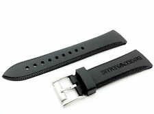 Black 23mm SILICONE RUBBER watch STRAP BAND for EMPORIO ARMANI AR0584 AR0595