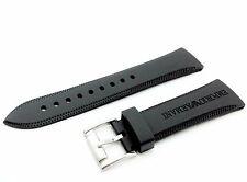 Black 23mm SILICONE RUBBER watch STRAP BAND for EMPORIO ARMANI AR0584 AR0595