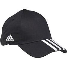 adidas Mens 3 Stripe Cap Black Strapback One Size Cs077 II 08