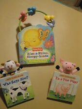 Rise & Shine Sleepy-Heads, Fisher Price Move Along Bead Book & 2 Baby Buddy Book
