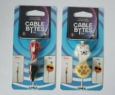 iJOY Cable Bytes 2 Pack Cord Protectors SNEAKERS or DOGGIE w/ PAW PRINT *NEW*