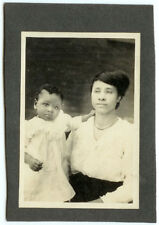 VINTAGE RARE ETHNIC IMAGE: African American Mother and Daughter Cabinet Card